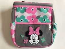 Diaper Bag Lunch Tote Small Disney Minnie Gray Pink Green Flowers NWT