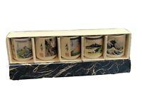Japanese Ceramic Sake Tea 5 Cup Set