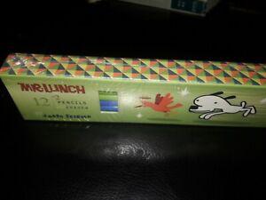 Mr. Lunch 12 #2 Pencils plus Eraser by J.otto Seibold in pencil box  NEW.