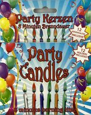 12 Birthday Candles Party Colourful With Holder Kid's New Boxed