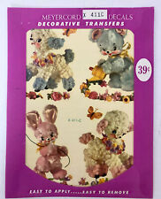 Vintage Meyercord Decal Baby Fluffy Animals - New Old Stock X 411-C