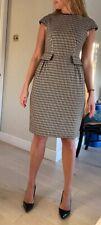 Carolina Herrera Designer Wool Dress Monochrome Size 10UK