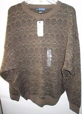 NEW NWT  Mens Via Torino Sweater Size XXL Brown Acrylic Korea