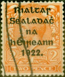 Ireland 1922 2d Bright Orange SG29a Die II Fine Used