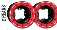 "DWT G3 Black Red Rear Beadlock Rims 9"" 9x8  4/115 YFZ450 YFZ450R Raptor 700 250"