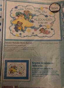 Twinkle Twinkle Birth Sampler - Dimensions Cross Stitch Chart