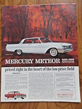 1961 Mercury Meteor 800 Ad - Red