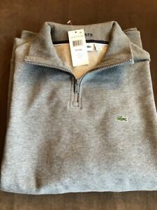 Men's Lacoste Stone Gray Long Sleeve Polo - Size 9 / 4XL RN87651 CA 16998