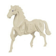New Child Assembly 3D Wooden Horse Educational Toy Woodcraft Construction Kit R7