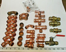 "Lot of 32 ProPress 3/4"" & 1/2"" Copper/Brass Fittings, Elbow's,Tee's,Couplings  +"