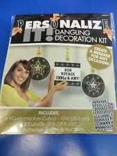 Glitter Starz Stars Hollywood Party Custom Personalize Dangling Decoration Kit