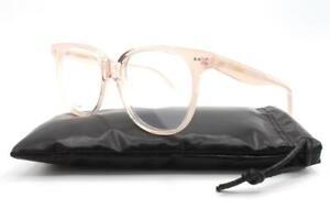 Celine CL50010I 50010I Eyeglasses Transparent Pink Salmon 072 Authentic 53mm