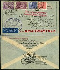 83/Zeppelin Brasilien Brazil 1932 7. Südamerikafahrt Brief nach Frankfurt Si 184
