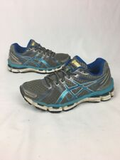 Asics Gel-Kayano 19 Women's Size 7 Running Training Shoes T350N Silver Blue
