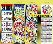 3 Set-BINGO 2020 CALENDAR BOOKMARK Game Casino Player Lover Card Perfect Gift