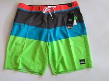 Quiksilver Men's 36 Board Shorts Everyday Blocked Stretch Orange Blue Green