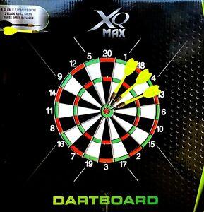 XQ Max  Dartscheibe & 6 Dartpfeile Profi Dartboard Wurfspiel Dart Scheibe Board