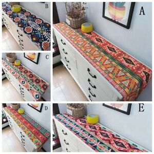 Table Runner Furniture Cover Table Cloth Home Party Adorn Vintage Ethnic Style