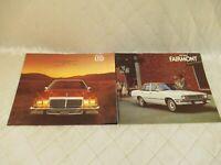 Ford LTD and Fairmont Car Sales Brochures 1979 Vintage