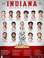 Indiana University Hoosiers 2019-20 Men's Basketball Poster - New [Poster Only]