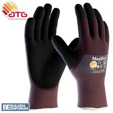 1X ATG MaxiDry Palm Coated – 56-425 Nitrile Foam Palm Coated Work Gloves 9 L