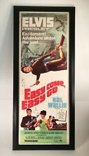 Elvis Presley • Easy Come Easy Go • Authentic 1967 Movie Poster • Framed • RARE!