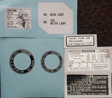 HONDA CX500 Modelli Di Avvertimento Etichetta decalcomania KIT