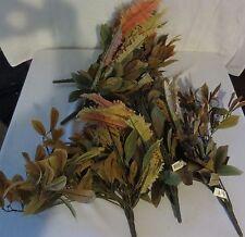 (5) Pc Assorted Artificial Silk Fall Craft Bundle Leaves Full Bundle