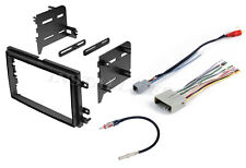 COMPLETE CAR STEREO RADIO DOUBLE DIN DASH TRIM KIT CD PLAYER + WIRING HARNESS +