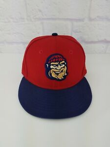 MiLB Williamsport Crosscutters Original MLB New Era 59Fifty Fitted RED Cap Hat