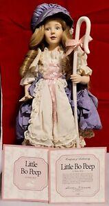 Franklin Mint Heirloom Little Bo Peep Porcelain Doll