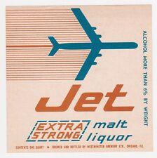 Jet Extra Strong Malt Liquor Beer Label