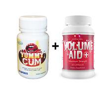 Yummy Cum Semen Sweetener + New Volume Aid MAXIMUM STRENGTH Semen Volume Pills