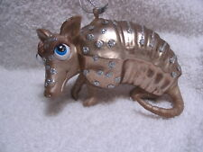 Armadillo Glass Ornament - Nine-Banded Texas Armadillo Nature Small Mammal
