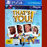 THAT'S YOU! - PlayStation 4 PS4 ~12+ resealed