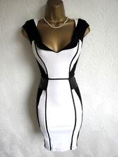 Lipsy black & white peplum bodycon dress size 10