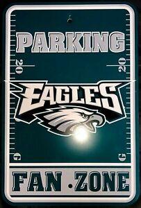 NFL Philadelphia Eagles Fan Zone Parking sign