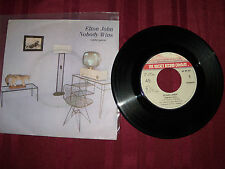 "Elton John 45 rpm record Nobody Wins / Fools in Fashion Spain 7"" single Rocket"