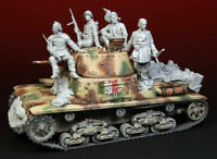 1/35 Resin the Italian Crew 4 Soldiers W/Stowage Unpainted Unassembled BL621