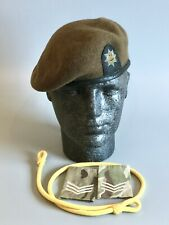 British Army-Issue Royal Anglian Regiment Beret, Lanyard & Rank Slides. 56cm
