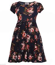 Short Sleeve Floral Sundresses for Women