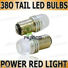 2 X P21/5w 380 Alta Potencia Cola Roja De Freno Stop Led Xenon Hid Foco De Luz 6000k