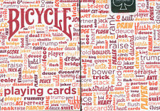 BICYCLE TABLE TALK PLAYING CARDS in RED