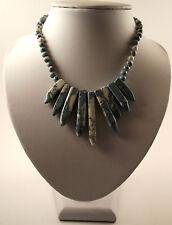 Sintéticas Howlite teñido turquesa, piedras preciosas Collar.