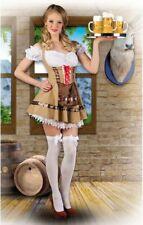 ★ Edelweiss Sexy Dirndel Dirndl,Oktoberkleid Trachtenkleid Braun,36-42