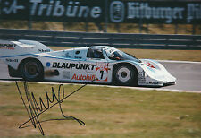 #7 BLAUPUNKT PORSCHE 956 SUPERSPRINT NURBURGRING SIGNED KLAUS LUDWIG PHOTOGRAPH