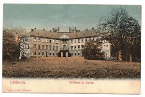 Litho Ak Lübbenau Schloss zu Lynar 1914 !
