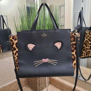 Kate Spade Hayden Run Wild CAT Satchel Bag Purse