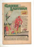 Green Lantern #13 1ST FLASH / GREEN LANTERN CROSS-OVER!  Cover-Less 1962 DC