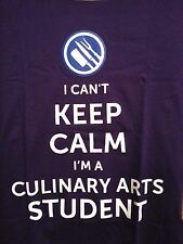 """I Can't Keep Calm I'm a Culinary Arts Student"" T-Shirt Purple Small Free Ship"